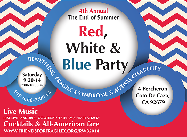 4th annual red white blue party benefiting fragile x syndrome